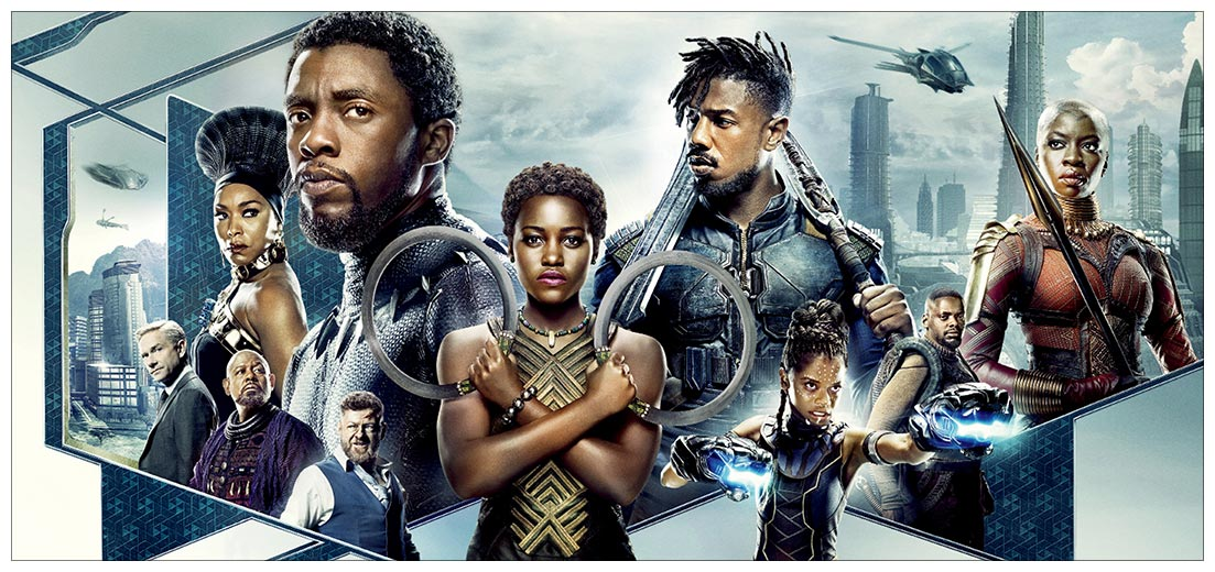 Неформатный постер Black Panther / Чёрная Пантера